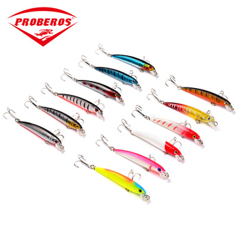 75mm/5.6g Isca Artificial Minnow Hard Bait Fishing Lure Wobbler Float 6# Hook Topwater Saltwater Crankbait Sea Beach Fishing 1pc 80mm 8 6g minnow fishing lures hard bait 6 hook sea fishing trolling wobbler fresh salt water crankbait artificial jerkbait
