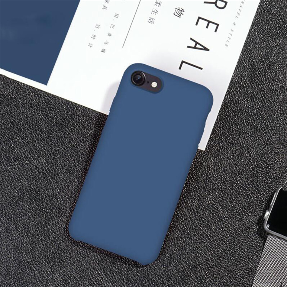 Original Silicone Case on iPhone 7 8 6 6S Plus X 5s 14