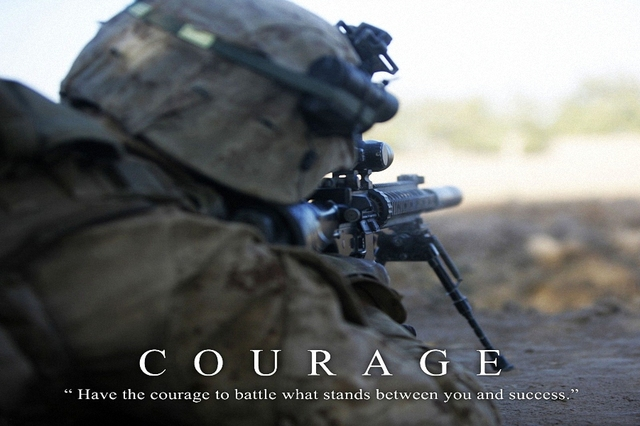 Military Motivational Quotes Beauteous Courage US Marines Army Military Motivational Quotes Art Wall Frame