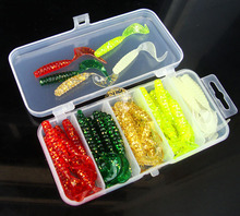 5cm 50pcs/set Simulation Fish Arrivals Fishing Lure Lead Jig Head Hook Grub Worm Soft Baits Shads Silicone Fishing Tackle стоимость