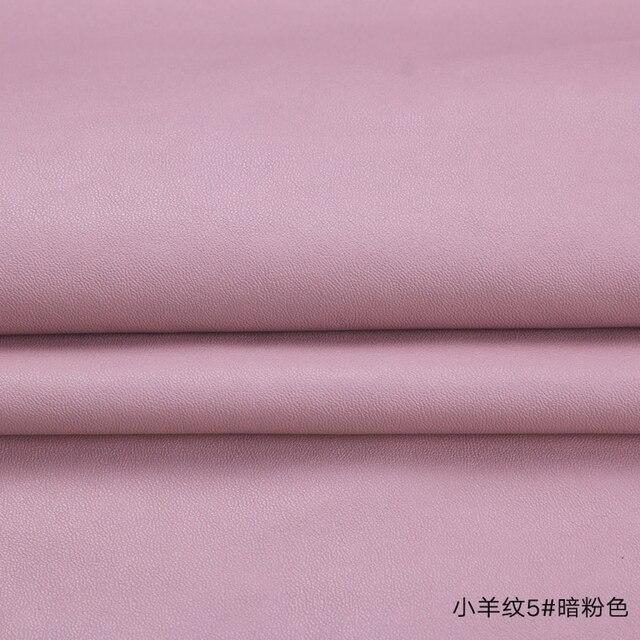 Высокое качество Micro овец узор 5 # розовые из искусственной кожи ткани с небольшим эластичные для мебели одежда мешок материала (50x138 см)