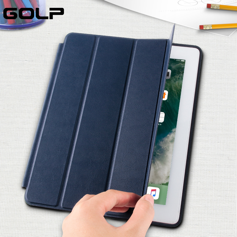For ipad 2 3 4 Case, GOLP Flip Case For ipad 4, for ipad 2 Cover Smart Stand Holder Coque Case for ipad 3 cover for ipad pro 10 5 shockproof magnet 2 in1 bluetooth 3 0 wireless keyboard foldable flip case stand cover holder for ipad 2 3 4