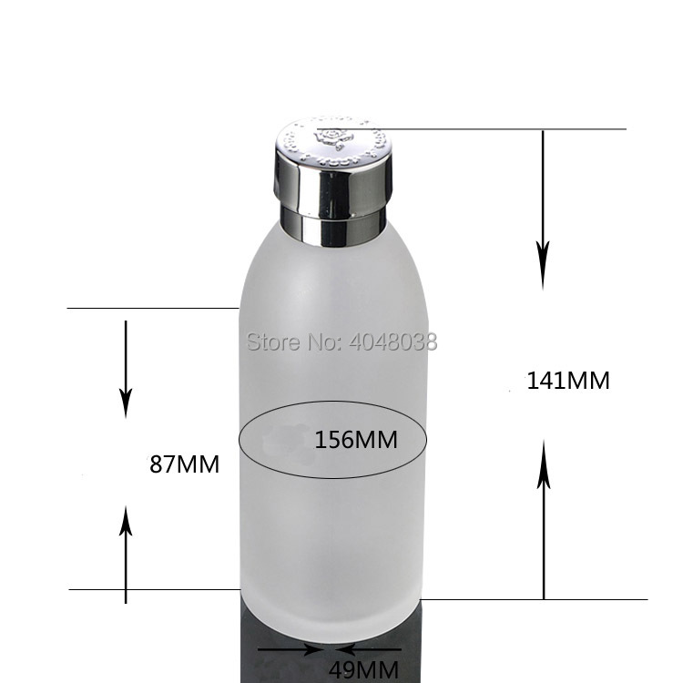 Refillable Cosmetic Container Frosted Glass Toner Bottle with Inner Plug Empty Portable Makeup Astringent Refillable 120ML 5 PCS
