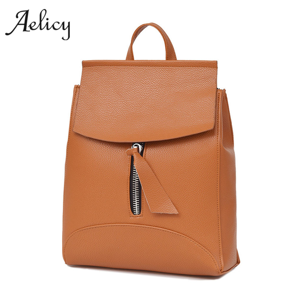 Aelicy High Quality Womens PU Leather Backpacks School Rucksack for Girls Ladies Travel Shoulder Satchel Bag Bolsa FemininaAelicy High Quality Womens PU Leather Backpacks School Rucksack for Girls Ladies Travel Shoulder Satchel Bag Bolsa Feminina
