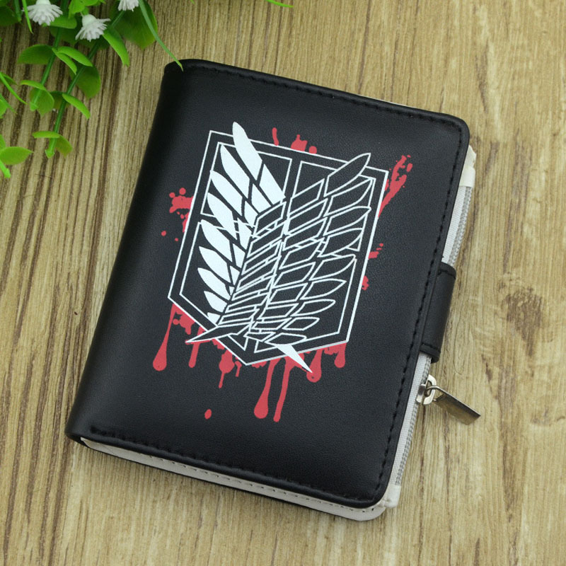 Men Wallets Card-Holder Anime Purses Fate/attack on NEW