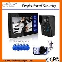 Color CMOS 700TVL camera keypad password access control touch sensor button with RFID card video door phone doorbell intercom