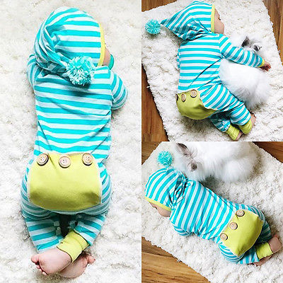 2017 Baby Spring Rompers Newborn Infant Baby Boys Girls Romper Jumpsuit Outfits Striped One-Pieces Clothes polka dot baby girls clothes backless flounced kid girls rompers jumpsuit playsuit one pieces outfits 0 18m blue pink purple