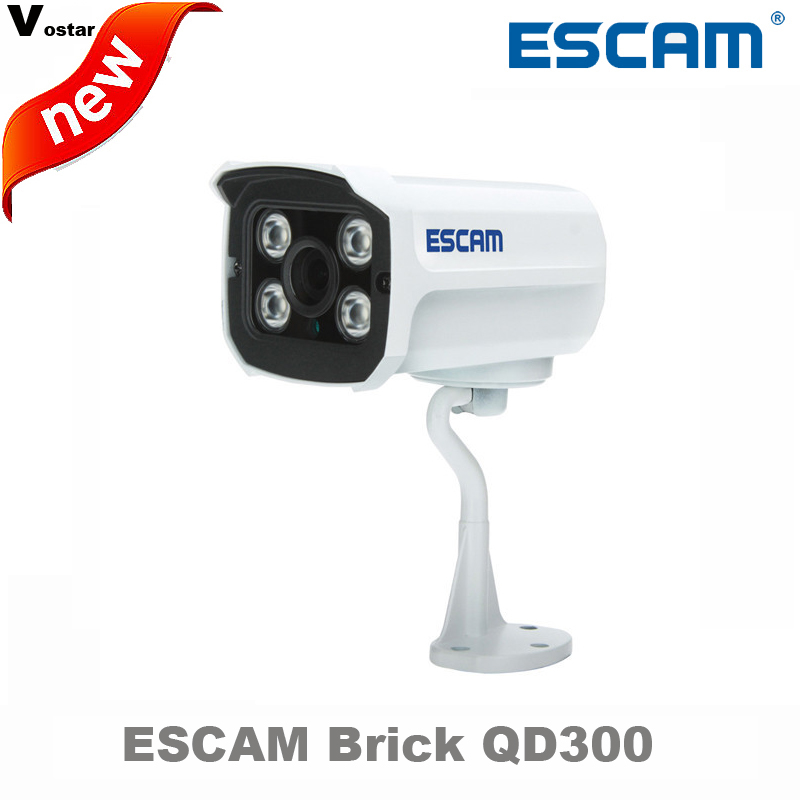 ESCAM QD300 1MP HD onvif Network Mini Wired IR Bullet Camera IR 15m waterprof p2p cloud