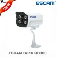 Escam QD300 1MP HD Onvif сеть мини проводной ИК-пуля Камера ИК 15 м waterprof P2P Облако открытый сети ip-видеонаблюдения Камера