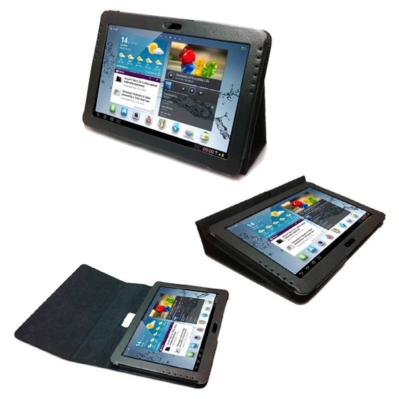 New 2-Folder Luxury Magnetic Folio Stand Leather Case Protective Cover For Samsung Galaxy Tab 2 10.1 Tablet GT-P5100 P5100 P5110 2 folding luxury folio stand holder leather case protective cover for samsung galaxy note pro 12 2 p900 p901 p905 12 2 tablet