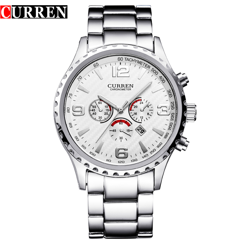 Hot Sell Curren Watches Relogio Masculino Fashion Montre Homme Reloj Hombre Quartz-Watch Male Watch Full Steel Wristwatches цена