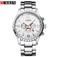 Hot Sell Curren Watches Relogio Masculino Fashion Montre Homme Reloj Hombre Quartz Watch Male Watch Full