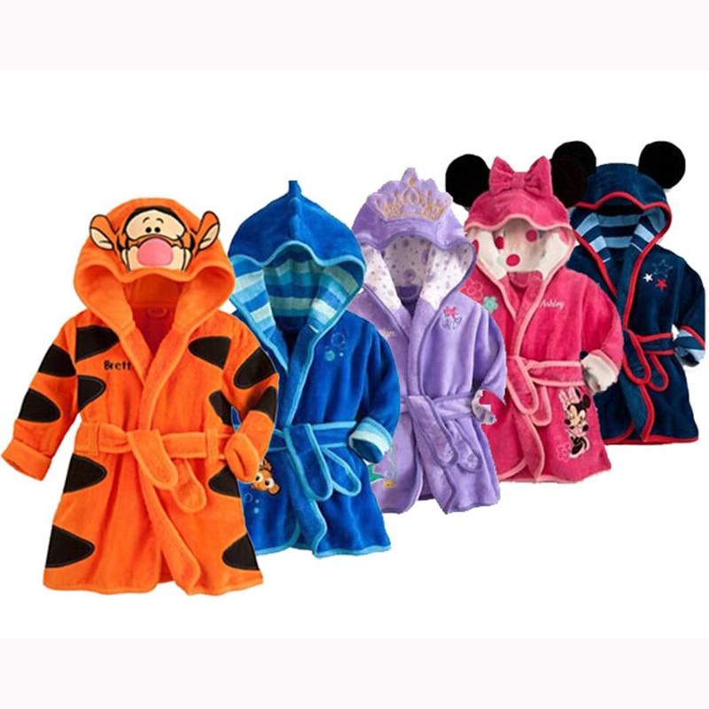 18689315147 Best buy PKSAQ 2017 Children s boy and girl Pajamas robe kids Minnie  Bathrobes Baby homewear Boys girls Cartoon Home wear retail online cheap