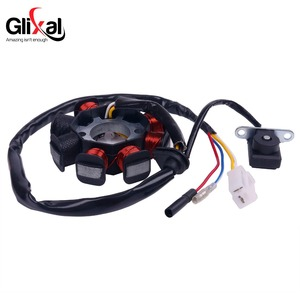 Image 2 - Glixal GY6 49cc 50cc 8 coil Magneto Alternator Stator for 139QMB 139QMA Chinese Scooter Moped Engine (Dual Ignition Coils)