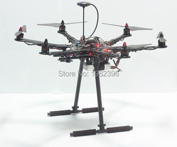 S550 s500 Upgrade Hexacopter Frame Kit with Unflodable Landing Gear APM 2 6 2 8 2212