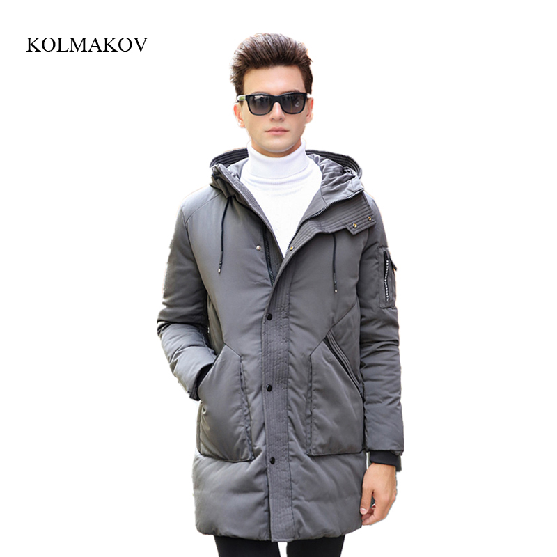 New arrival winter style men boutique down coats fashion casual slim hooded overcoat mens solid thicking dress coat size M-3XL