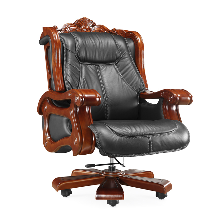leather black leather executive chair boss chair cowhide leather