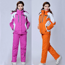 HOT!Free Shipping Winter Waterproof Skiing Women Pant And Jacket Ski Suit Set Snowboard Sport Wear Snow Clothes Women Jacket