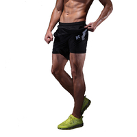 2 In 1 Running Tights Men Shorts Compression Fitness Athletic Training Tights Gym Shorts Soccer Running