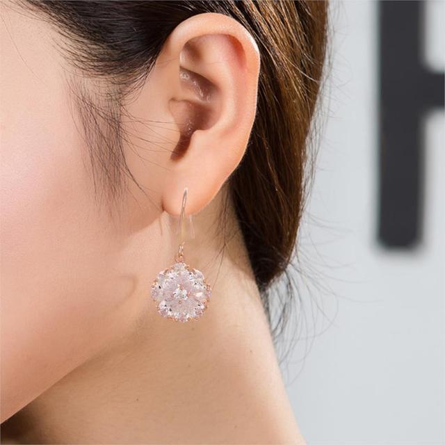 Women's Fashion Rose Dangle Earring