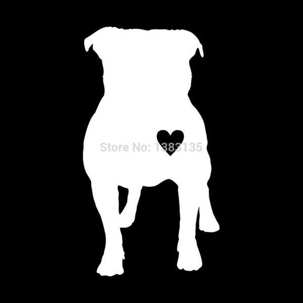 Pitbull Outline With Heart