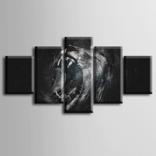 Wholesale 5 pieces / set of Lion impression wall art for decorating home Decorative painting on canvas framed /ZT-3-16