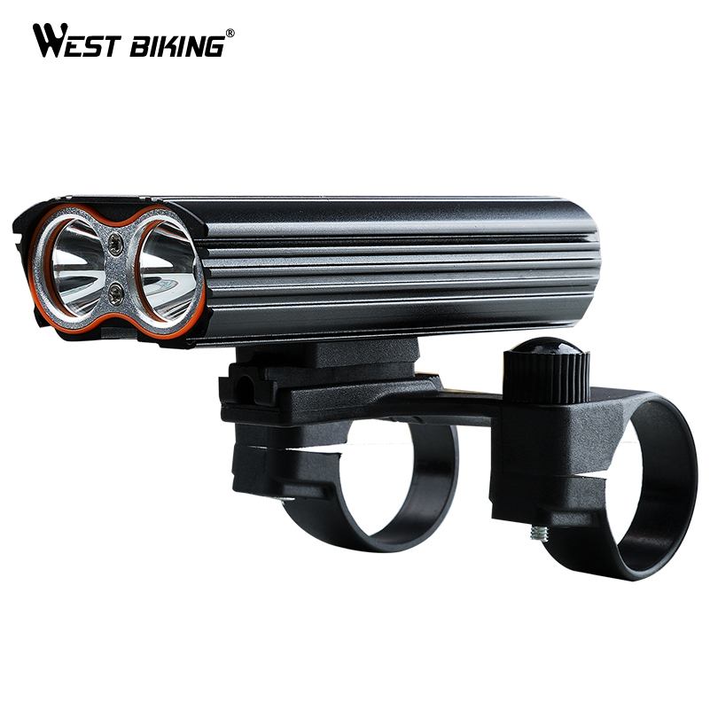 WEST BIKING Bike Light Headlight Waterproof Double Light T6 Bicycle Super Bright Front Lights Cycling Safety