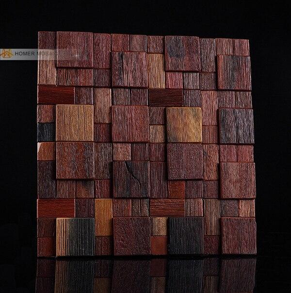 NºEnvío libre! Log natural madera mosaico, 3D diseño, cocina ...
