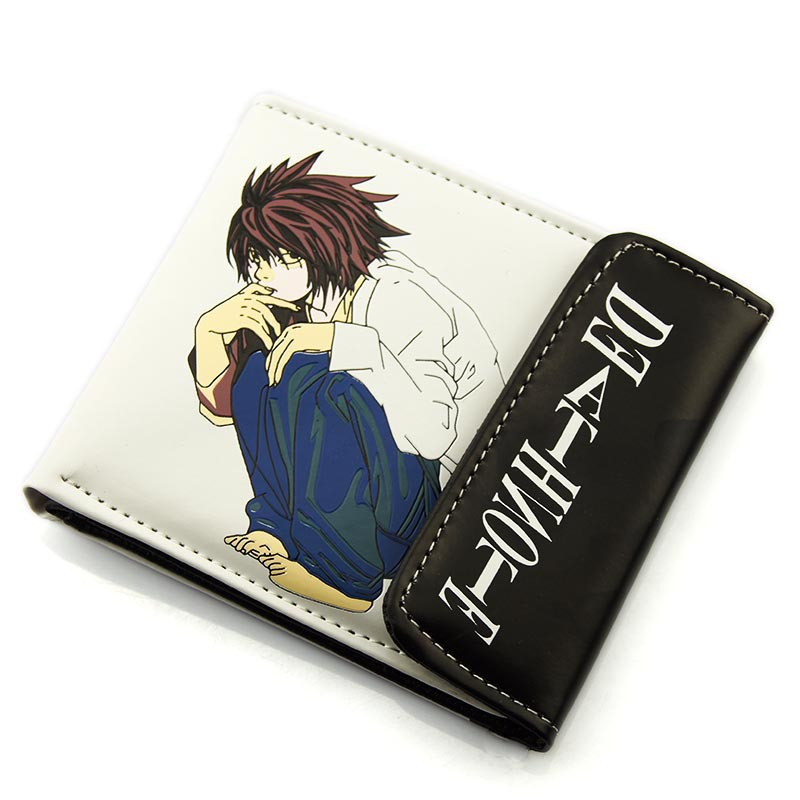 PU short wallet/purse with Anime Deathe Note L.Lawliet