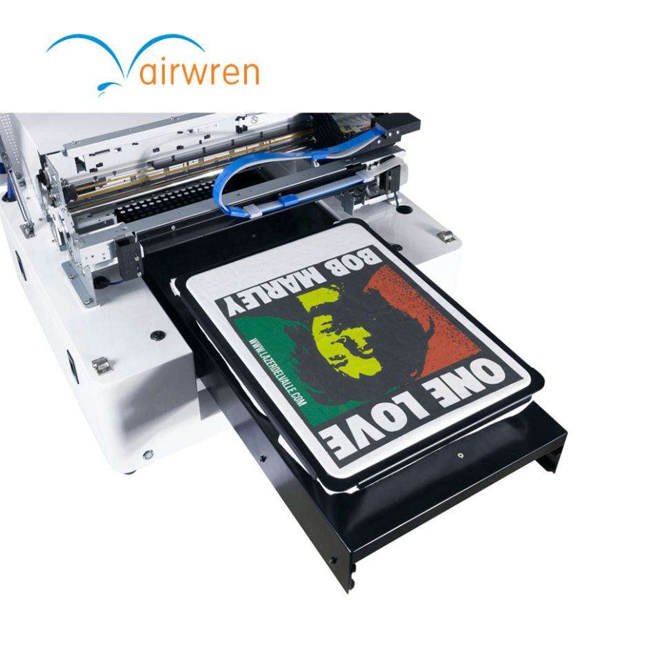 Digital Flatbed Textile Printer A3 Size Dtg Printing Machine For T-shirt Print