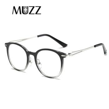 7ccd57d8f8 MUZZ nueva moda femenina grado gafas marco gradiente Retro gafas marcos de  prescripción para hombres gafas