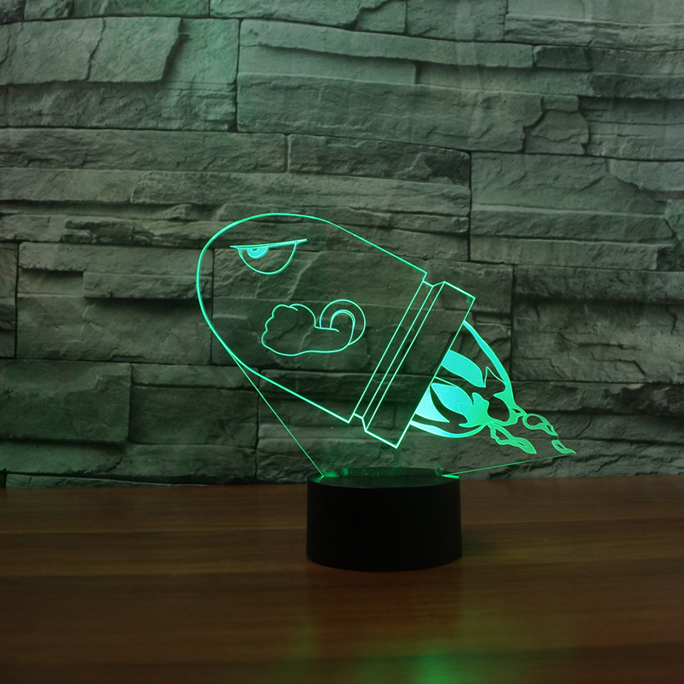 Fashion Art Rockets Modelling Light 7 Colors 3D Table Lamp Touch Button LED Night Light Home Decor Luminaria Kids Sleeping Gifts