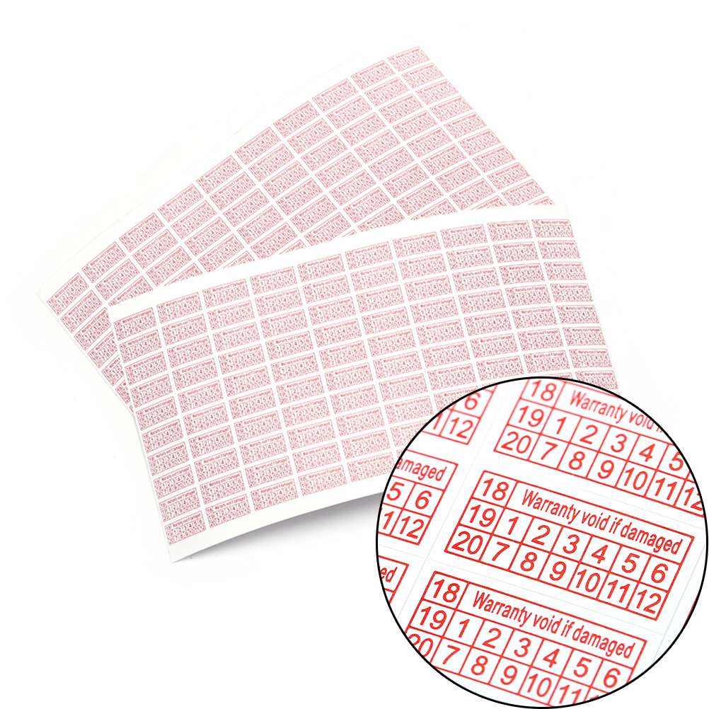 200pcs/2Sheets Security Label Sticker Seal Shredded Paper 2018-2020 Warranty Void If Damaged Protection