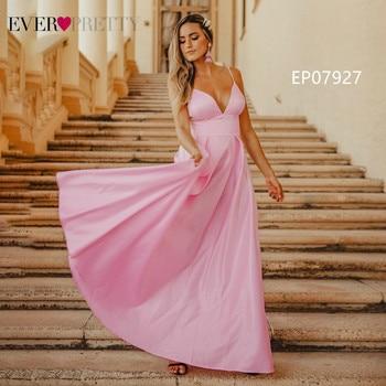 Pink Prom Dresses 2020 Ever Pretty A-Line Sequined Elegant Women Dresses Evening Party Special Occasion Mezuniyet Elbiseleri 4