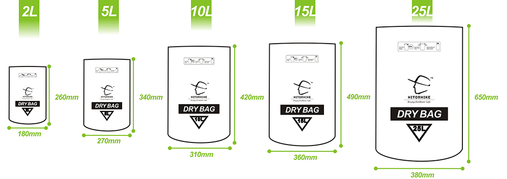 15L 25L Swimming Waterproof Bag Dry Sack Bag For Canoeing Kayak Rafting Outdoor Sport Bags Travel Kit Equipment storage bag 2018