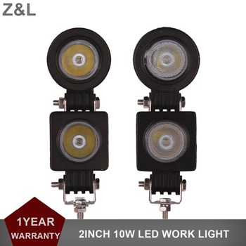 10W LED Work Light 12V 24V 2Inch Mini Car Auto Truck ATV Motorcycle 4X4 4WD Tractor Bicycle Indicator Fog Lamp Driving Headlight