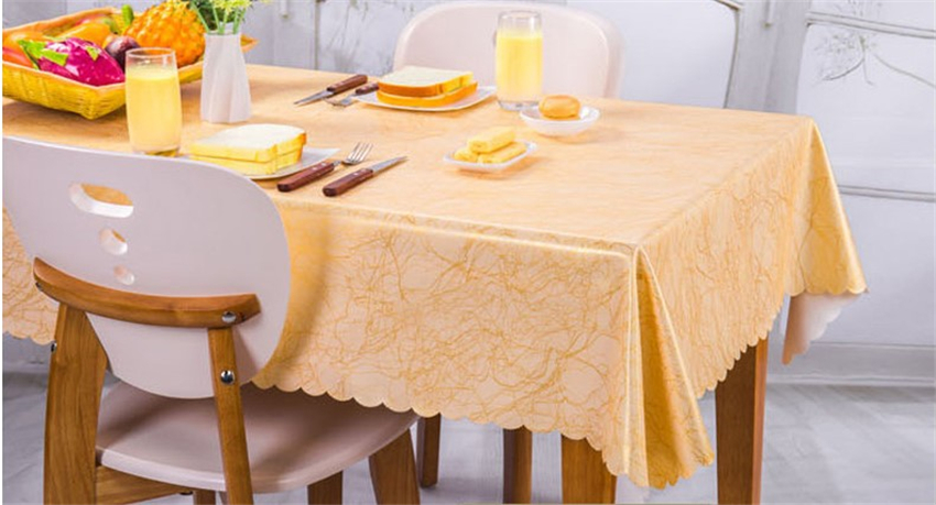 New waterproof table cloth anti-hot oil Jacquard printed birds home restaurant Rectangular Round Dining Table Cloth