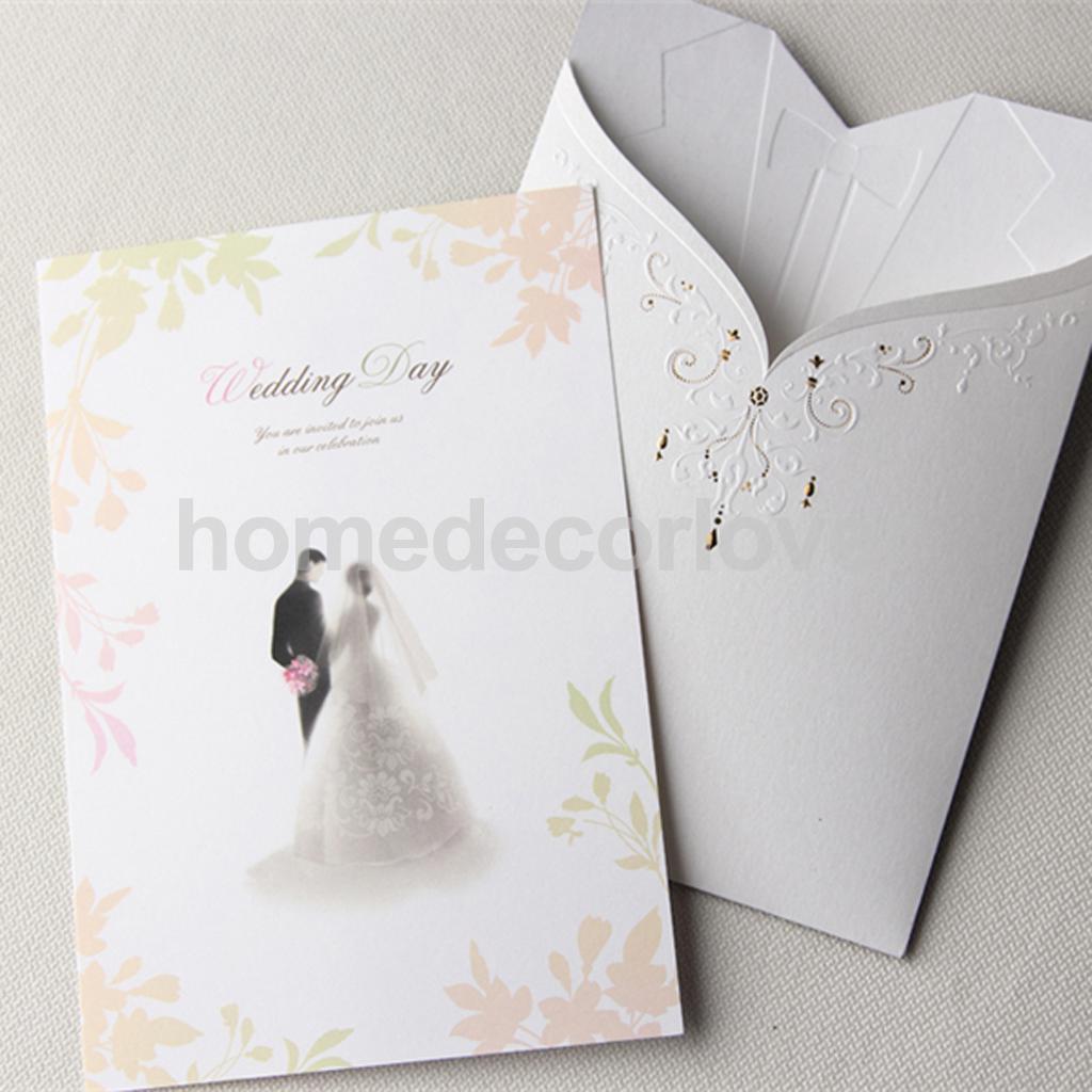 10 Set Paper Bride Groom Wedding Invitations Tuxedo Cards Stickers ...