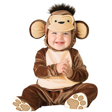 2016 New Arrival High Quality Baby Boys Girls Halloween monkey Costume Romper Kids Clothing Set Toddler