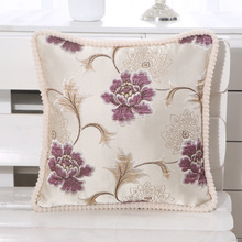 European style sofa cushion cover pillowcase embroidery flower car with furniture hotel decoration