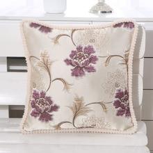 цена European style sofa cushion cover pillowcase embroidery flower car with cushion cover furniture hotel decoration онлайн в 2017 году