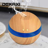 290ml USB Ultrasonic Humidifier Wood grain Aroma Diffuser Essential Oil Diffuser Aromatherapy Mist Maker with LED Light