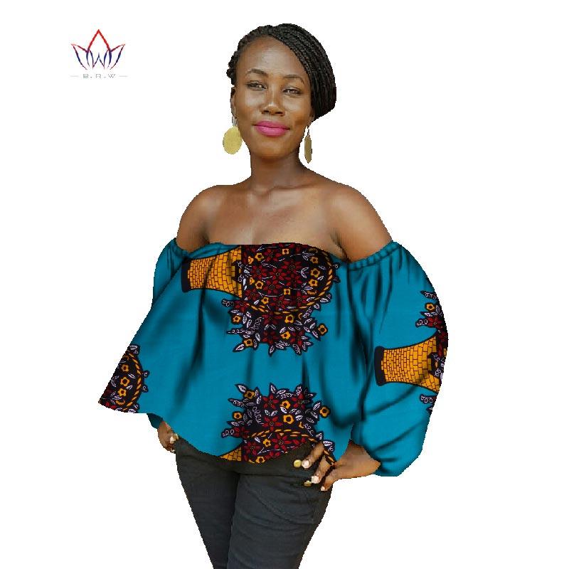 2019 nouveau été femmes africaines hauts imprimer cire coton chemise de grande taille afrique Sexy femmes chemises de grande taille 6XL Crop hauts AT954