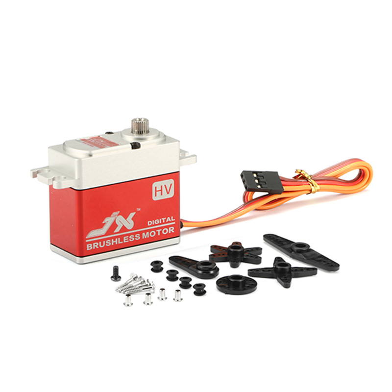 JX BLS-HV7032MG 30KG Large Torque High Voltage Brushless Digital Servo For RC Car Helicopter Toys Accessories jx pdi 6221mg 20kg large torque digital standard servo for rc model
