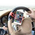 2016 Mais Novo Universal Volante Do Carro Do Telefone Do Carro Titular Soquete de 55mm-80mm vermelho para iphone 5 6 7 para samsung s6 s7 edge