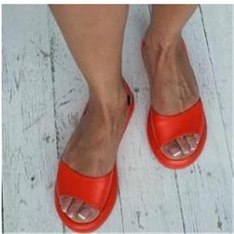 Новинка 2019 года; женские сандалии; Вьетнамки; Новая летняя модная дышащая Нескользящая женская обувь тапки в римском стиле; повседневная женская обувь