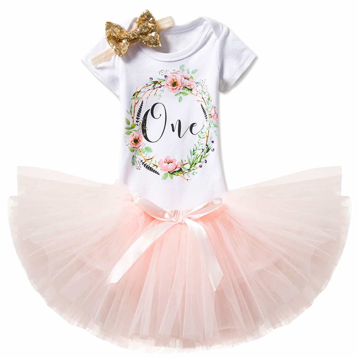Baby Girl Clothes Cake Smash Outfit 1 Year Birthday Dress  My First