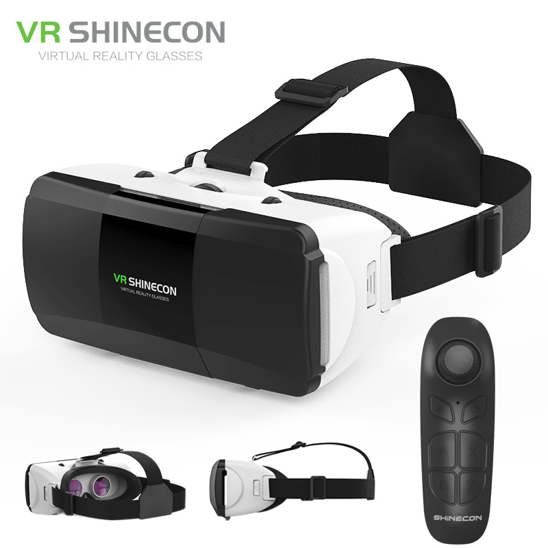 Shinecon G06D Glasses Virtual Reality VR 3D Virtual Reality for iphone 360 Degree Android VR Glasses for Smartphone with Remote