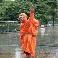 BlueField Outdoor Travel Waterproof Riding Clothes Raincoat Poncho Hooded Camping Hiking Unisex One piece Rain Gear Rainwear