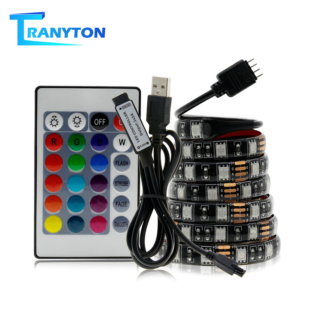 USB LED Strip 5050 RGB Changeable 5V Waterproof / No Waterproof 0.5m 1m 2m with USB Controller Set DIY TV Decoration LED Light.-in LED Strips from Lights & Lighting on Aliexpress.com | Alibaba Group